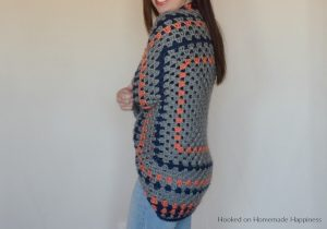 Granny Shrug Crochet Pattern - The Granny Shrug Crochet Pattern uses the classic granny square to make this cute and cozy sweater.