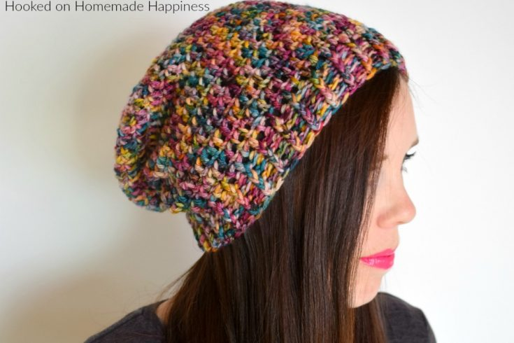 Basic Slouchy Beanie Crochet Pattern - This Basic Slouchy Beanie Crochet Pattern is a really easy pattern that can be finished in just an afternoon. The pattern can easily be adjusted with more or less slouch. However you prefer!