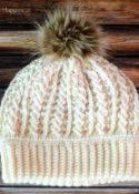Double Brim Cable Crochet Beanie Pattern