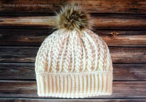 Double Brim Cable Crochet Beanie Pattern - The Double Brim Cable Crochet Beanie Pattern is full of beautiful texture. The double brim makes it extra warm around the ears.
