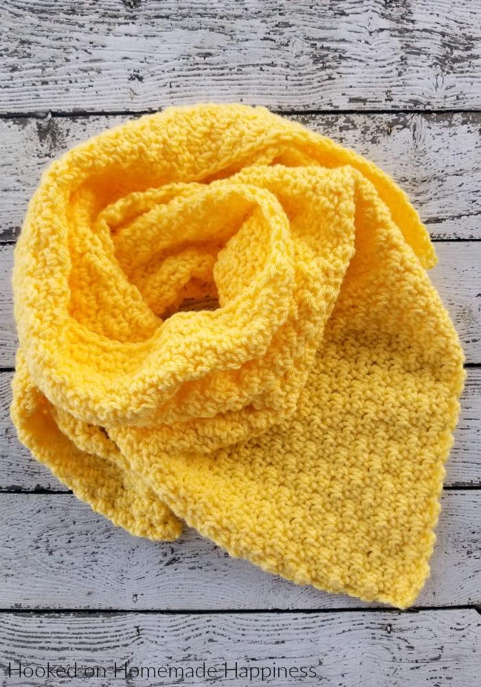 Lemon Peel Triangle Scarf Crochet Pattern - Lemon Peel Triangle Scarf Crochet Pattern