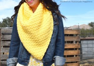 Lemon Peel Triangle Scarf Crochet Pattern - Lemon Peel Triangle Scarf Crochet Pattern