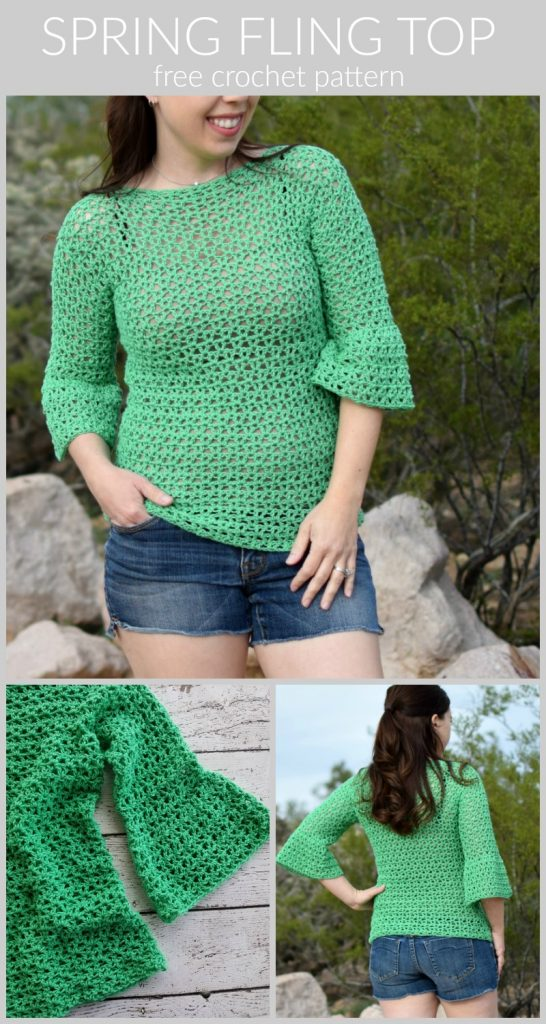 Spring Fling Crochet Top Pattern - The Spring Fling Crochet Top Pattern is such a fun top for spring!