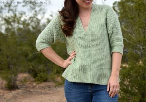 Weekender Pullover Crochet Pattern - The Weekender Pullover Crochet Pattern is a comfy, casual sweater. Perfect for weekend shopping trips and brunch!