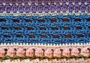Welcome to Part 15 of the Stitch Sampler Scrapghan CAL! Just one more week until we're finished! This week is the Two on Two Stitch.