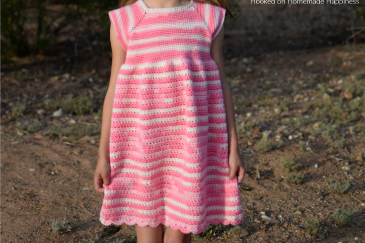 Carson Crochet Dress Pattern - The Carson Crochet Dress Pattern is a pretty spring dress! I designed this dress for my daughter Carson. This dress is TOTALLY her. Pretty, pink, and ruffle-y.