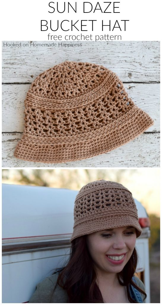 Sun Daze Bucket Hat Crochet Pattern - The Sun Daze Bucket Hat Crochet Pattern uses a few different stitches to create this cute and textured summer hat.