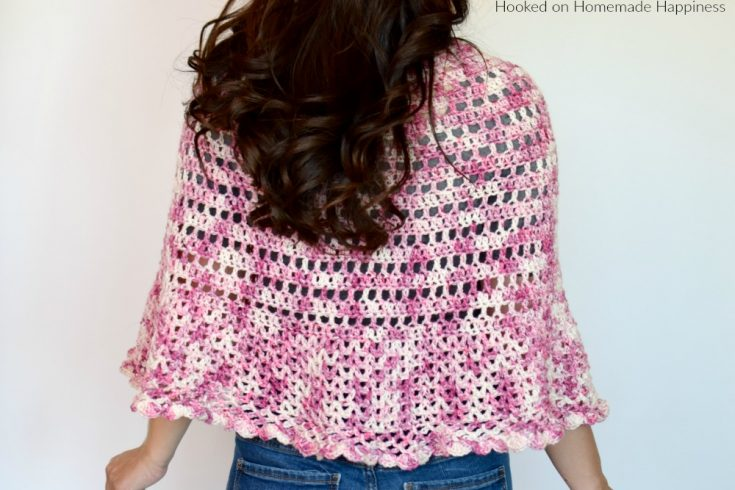 Springtime Poncho Crochet Pattern - The Springtime Poncho Crochet Pattern has an open airy design perfect for cool spring evenings!