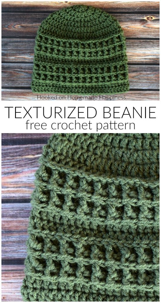 Texturized Crochet Beanie Pattern - The Texturized Crochet Beanie Pattern uses some of my favorite stitches and techniques to create the fun textures.