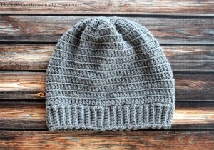 Bottom Up Beanie Crochet Pattern - My favorite beanies are always the ones made from the bottom up. The Beginner Bottom Up Beanie Crochet Pattern is a simple pattern with a video tutorial so any level crocheter can make this style hat.