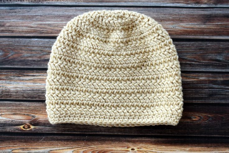 Herringbone Beanie Crochet Pattern - The Herringbone Beanie Crochet Pattern has a fun texture that's created with the herringbone double crochet and turned rounds.