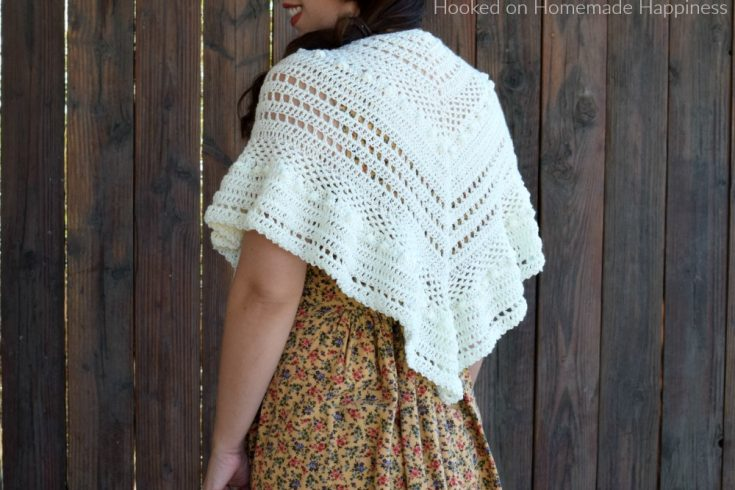 Al Fresco Shawl Crochet Pattern - The Al Fresco Shawl Crochet Pattern is a lightweight shawl that's perfect for cool evenings.