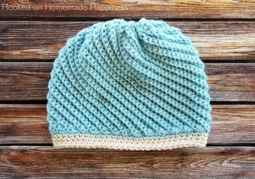 Twisted Beanie Crochet Pattern - I am so excited to share the Twisted Beanie Crochet Pattern with you! This beanie is completely different than any beanie I have ever made. I hope you love it, too!