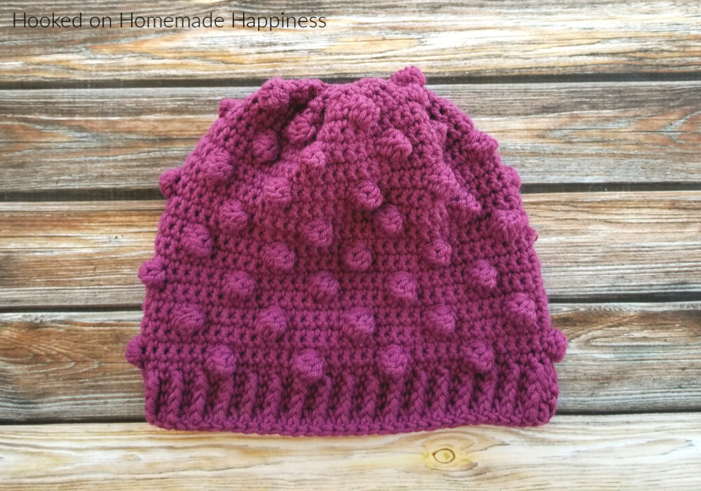 Bobble Beanie Crochet Pattern - The Bobble Beanie Crochet Pattern is the last pattern for this year's CAL for a Cause! I thought it would be fun to add this trendy beanie to our collective stack.