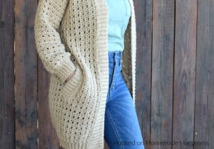 Cafe au Lait Cardigan Crochet Pattern - There is so much to love about the Cafe au Lait Cardigan Crochet Pattern. The seamless construction, the ribbing, the simple stitch, the POCKETS!