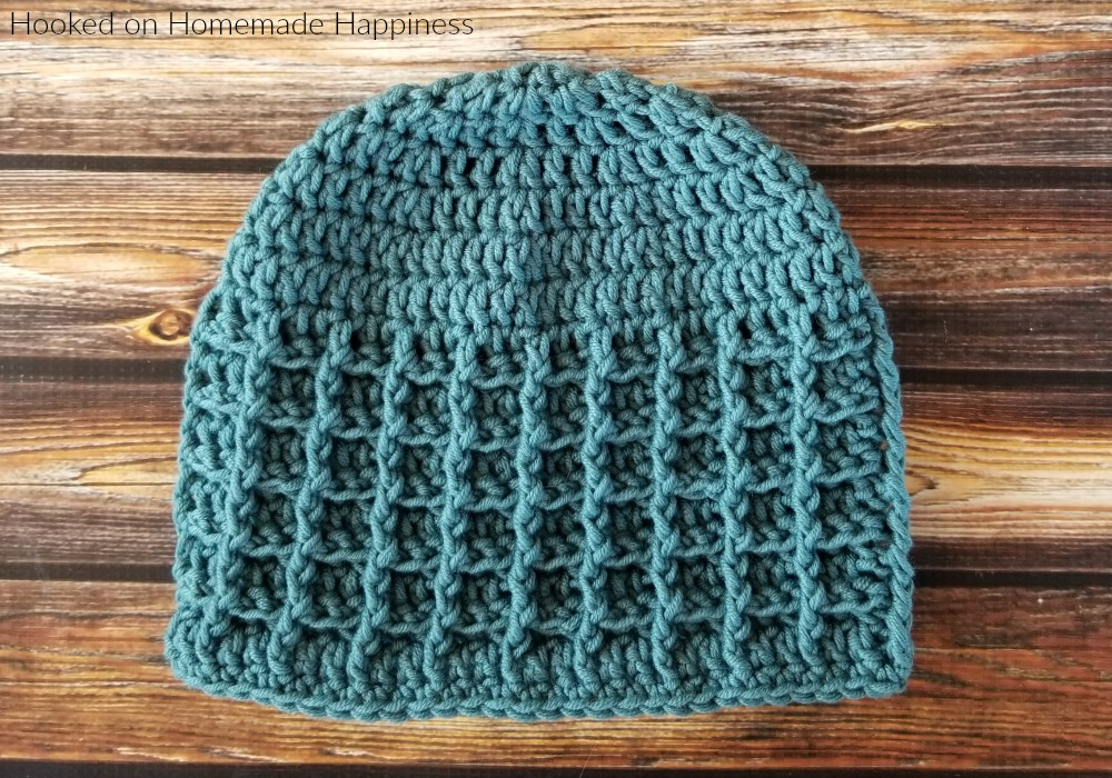 Waffle Brim Beanie Crochet Pattern - The Waffle Brim Beanie Crochet Pattern is an easy pattern with great texture!