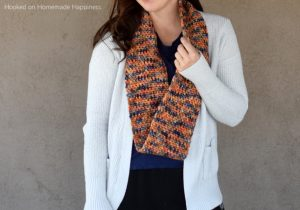 One Skein Infinity Scarf Crochet Pattern - Do you have that one special skein of yarn you don't know what to do with? The One Skein Infinity Scarf Crochet Pattern is the answer!