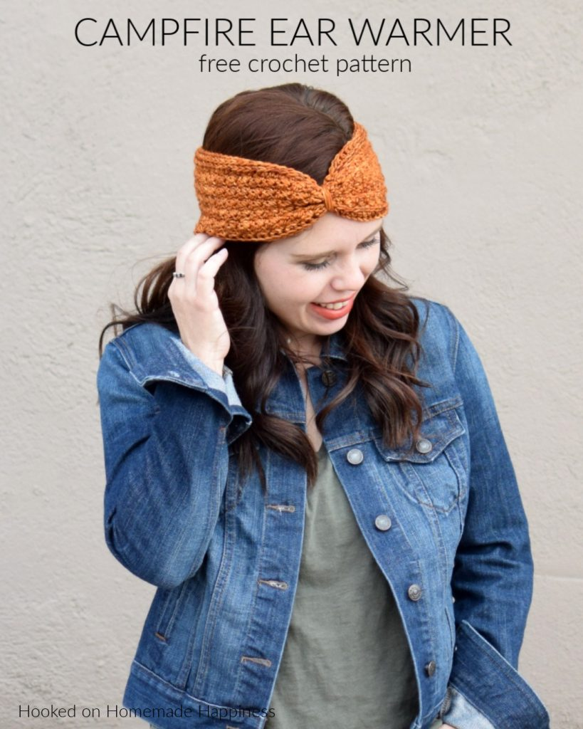 Campfire Ear Warmer Crochet Pattern - The Campfire Ear Warmer Crochet Pattern uses a couple of my favorite stitches! I used the Suzette Stitch and HDC in the 3rd loop to create this beautifully textured ear warmer.