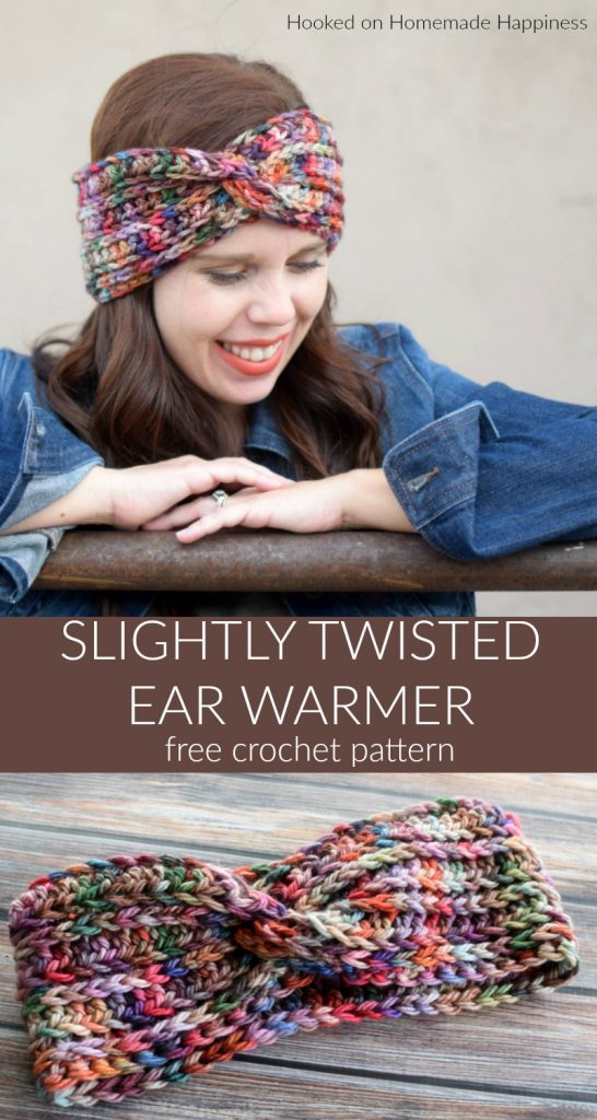 Slightly Twisted Ear Warmer Crochet Pattern - The Slightly Twisted Ear Warmer Crochet Pattern only looks like it's twisted. It's all in the sewing! If you know how to crochet a rectangle, you can definitely make this ear warmer.