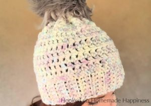 Arctic Beanie Crochet Pattern - The Arctic Beanie Crochet Pattern is made with super simple stitches and bulky weight yarn. Quick and easy!