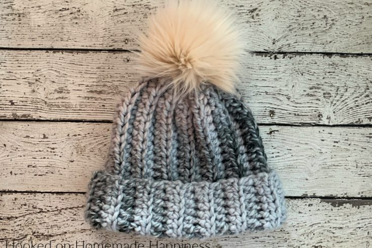 Chunky Classic Beanie Crochet Pattern - The Chunky Classic Beanie Crochet Pattern is made exactly like the Classic Beanie, but made with super bulky yarn! I used Lion Brand Wool-Ease Thick & Quick.