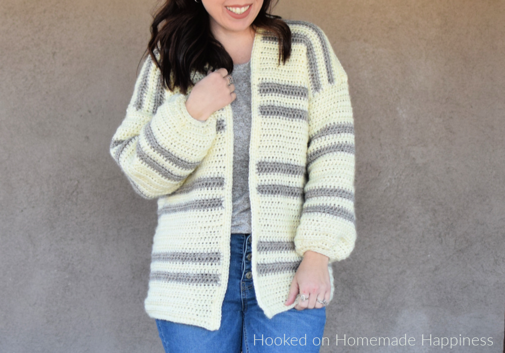Cozy Cardi Crochet Pattern - The Cozy Cardi Crochet Pattern is a super easy beginner level pattern with very little sewing!