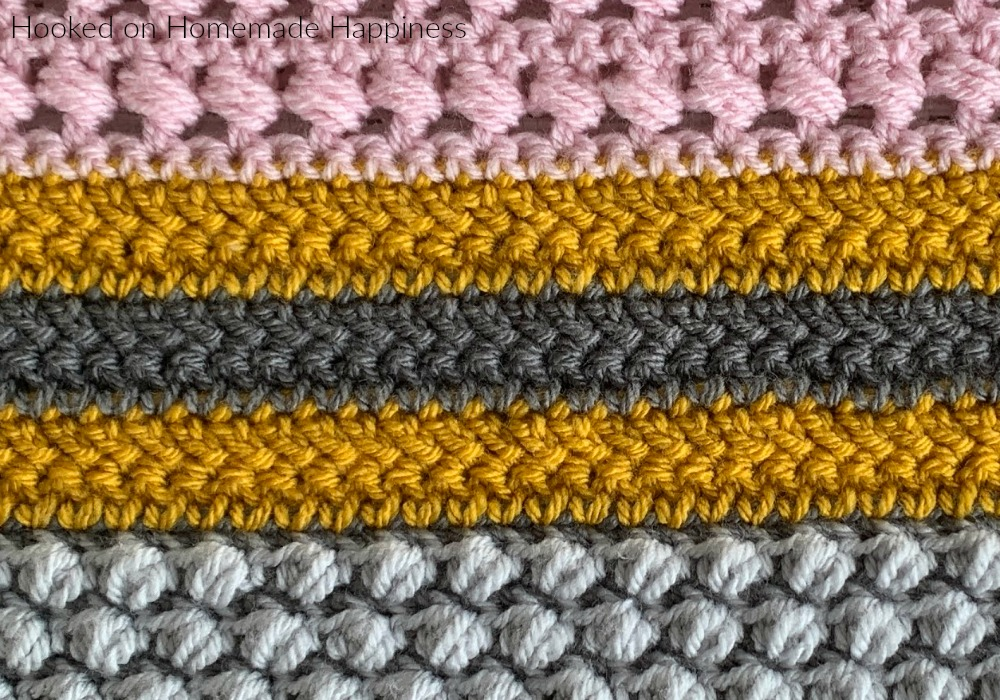Herringbone Double Crochet Stitch - The Herringbone Double Crochet Stitch is one I like to use often! It creates a zig-zag type look. It's also has less holes than typical double crochet which makes it a great stitch for garments.