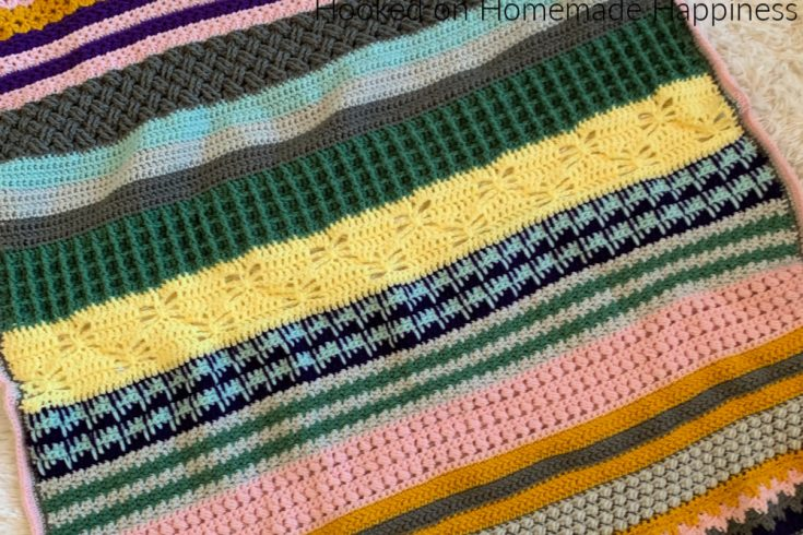 Stitch Sampler Scrapghan Crochet Along 2020 - Hi there! Thank you for your interest in joining my Stitch Sampler Scrapghan Crochet Along 2020!