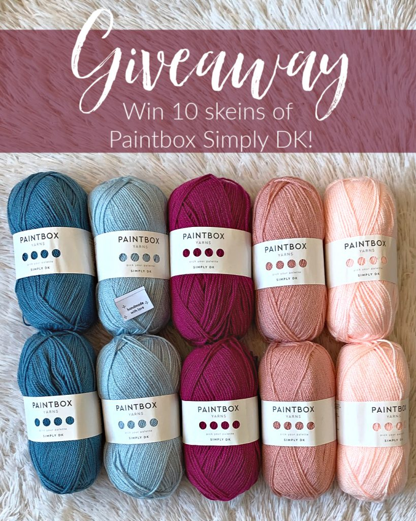 I have TEN skeins of Paintbox Simply DK to give away to one lucky winner!
