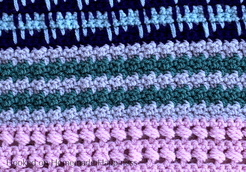 Lemon Peel Stitch - The Lemon Peel Stitch is one of my favorite stitches! I've used in a number of projects like my Color Kaleidoscope Blanket and Cowl Sweater Vest.