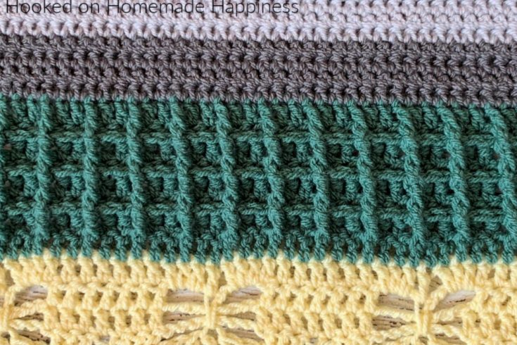 Waffle Stitch - This week's stitch for the Stitch Sampler Scrapghan is the Waffle Stitch! This stitch has such great texture.