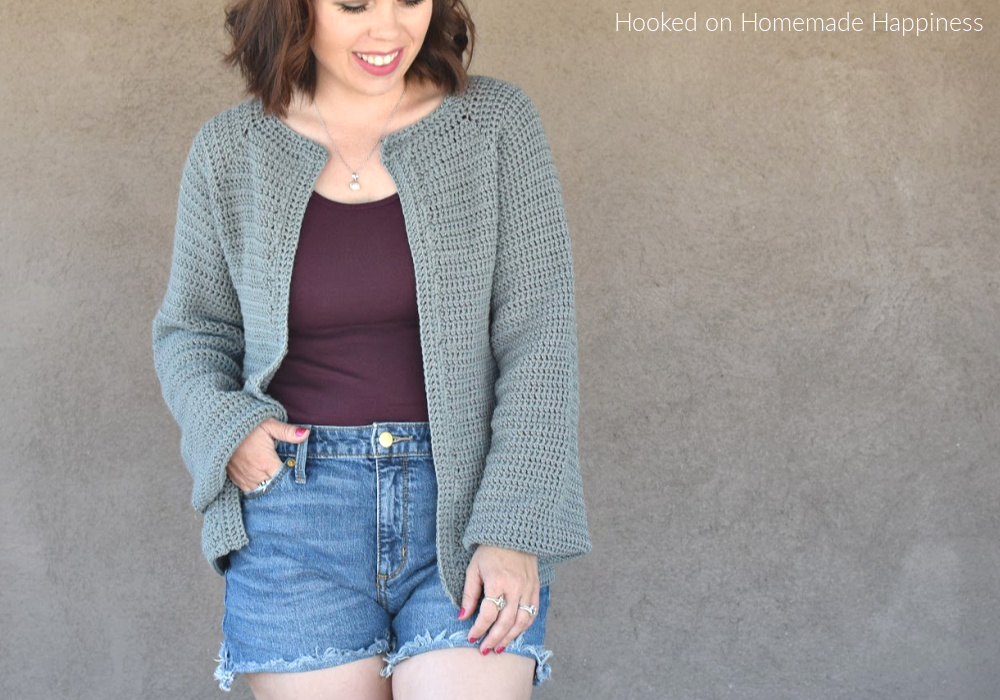 Easy Essential Cardigan Crochet Pattern - The Easy Essential Cardigan Crochet Pattern is a closet staple! It has a comfortable fit with a simple, classic design. Just perfect for any occasion!