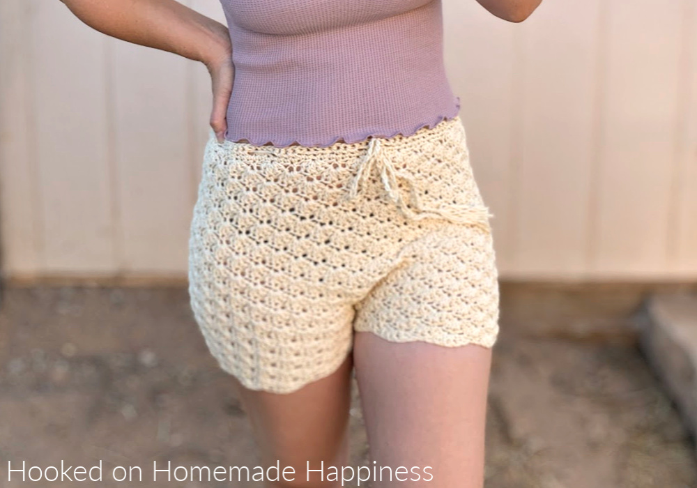Shell Shorts Crochet Pattern - These Shell Shorts Crochet Pattern are perfect for summer! They're made of cotton so they can easily be worn over a swim suit and to the beach or pool!