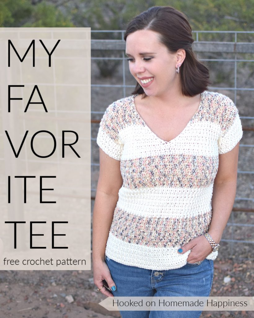 My Favorite Tee Crochet Pattern - The My Favorite Tee Crochet Pattern is just that... my favorite! It has a classic, easy to wear design that will go with almost anything.