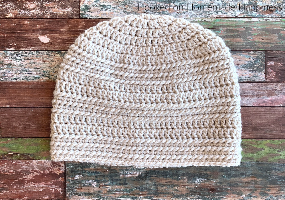 Ring Stitch Beanie Crochet Pattern - The Ring Stitch Beanie Crochet Pattern uses a unique stitch called the Ring Stitch, and it creates this pretty and subtle texture.