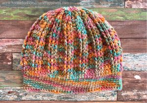 Burst Beanie Crochet Pattern - The Burst Beanie Crochet Pattern use simple stitches to create a fun and textured design!