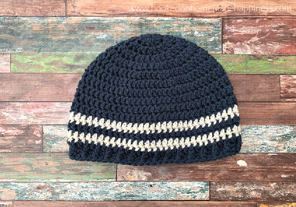Easy Men's Beanie Crochet Pattern