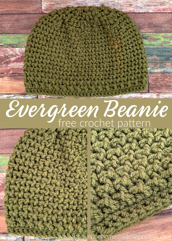 Evergreen Beanie Crochet Pattern - The Evergreen Beanie Crochet Pattern uses front post double crochet and back post double crochet to create this fun texture!