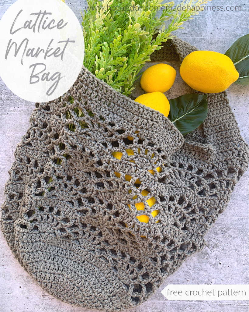 Lattice Market Bag Crochet Pattern - The Lattice Market Bag Crochet Pattern looks intricate, but it's much easier than it looks!