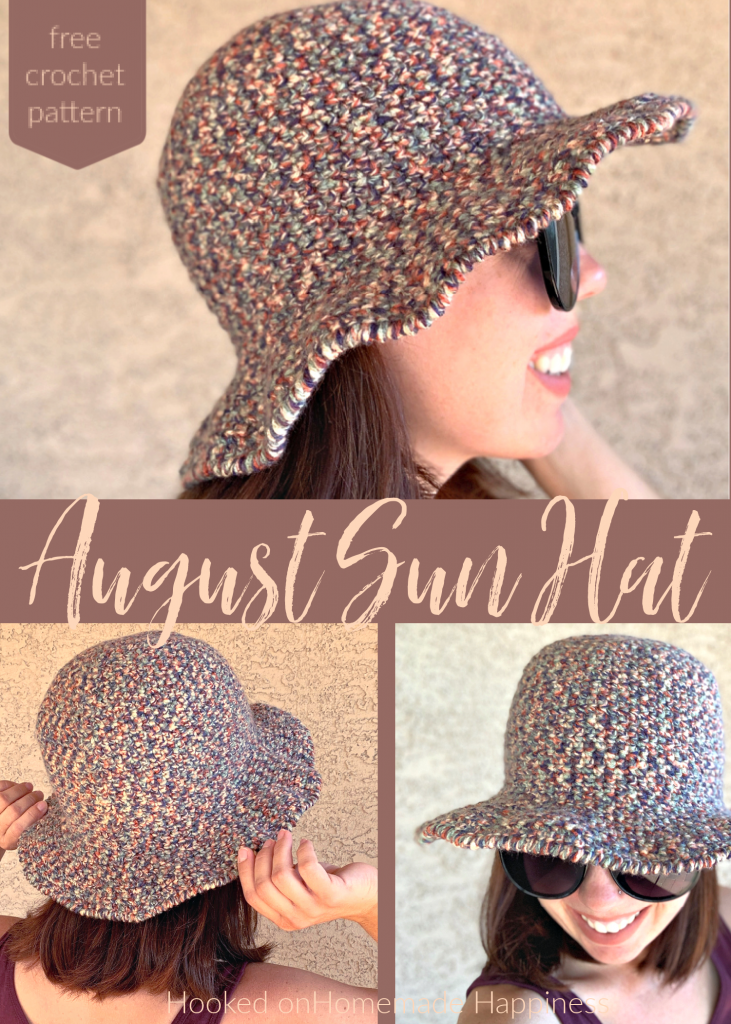 August Sun Hat Crochet Pattern - The August Sun Hat Crochet Pattern is the perfect summer hat! It has a tight stitch and offers full coverage from the sun. I used acrylic for this sample, but cotton would work even better!