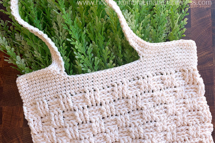 Basketweave Market Bag Crochet Pattern - The Basketweave Market Bag Crochet Pattern uses one of my favorite stitches... the Basketweave Stitch! I've used it in so many designs. It always makes for such beautiful textures.