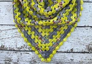 Better than Basic Granny Shawl Crochet Pattern - The Better than Basic Granny Shawl Crochet Pattern is your classic granny stripe shawl made modern and fun!