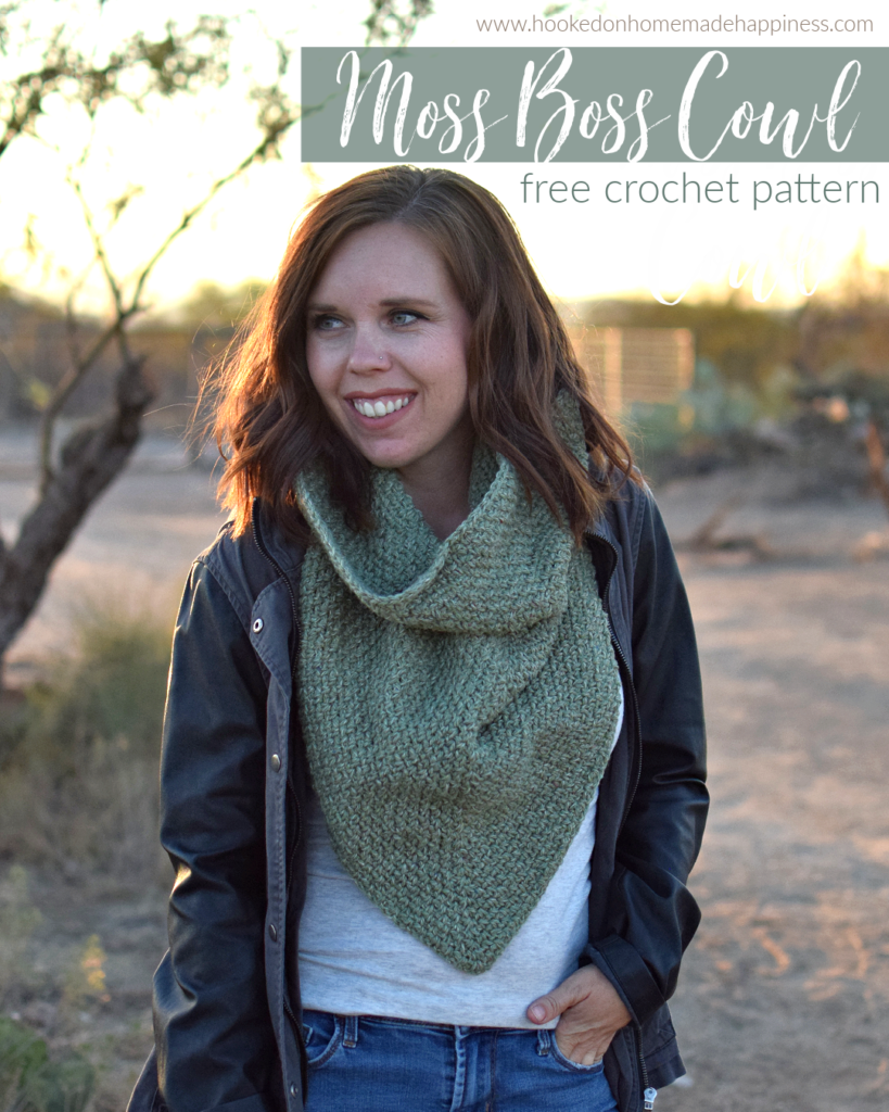 Moss Boss Cowl Crochet Pattern - The Moss Boss Cowl Crochet Pattern uses one of my favorite classic stitches, the moss stitch!
