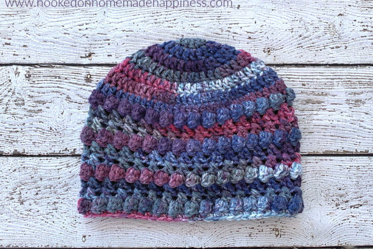 XOXO Beanie Crochet Pattern - The XOXO Beanie Crochet Pattern is a quick and cute beanie with some fun textures!