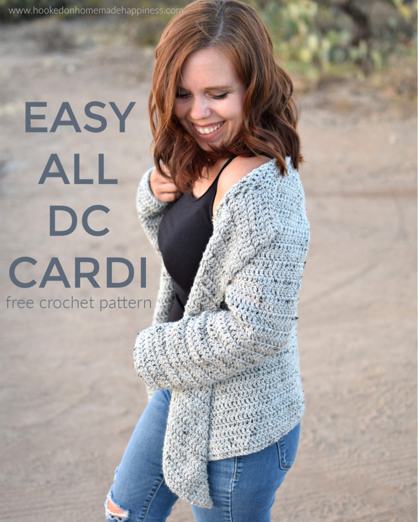 Easy All DC Cardi Crochet Pattern