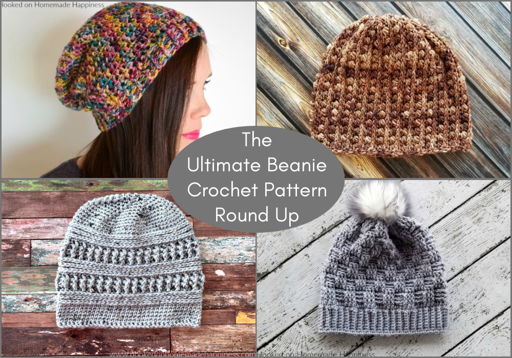 I've rounded up 25 of my favorite winter beanie patterns for this Ultimate Beanie Crochet Pattern Round Up!