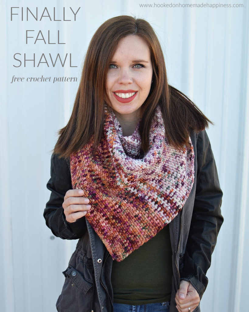 Finally Fall Shawl Crochet Pattern - The Finally Fall Shawl Crochet Pattern uses one of my favorite stitches, the moss stitch. It creates such a gorgeous texture, especially as an asymmetrical shawl.
