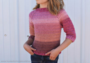 Kid's Everyday Raglan Crochet Pattern - The Kid's Everyday Raglan Crochet Pattern is an easy, beginner level, top-down sweater! This is easily customizable and could easily be made for boys and girls.