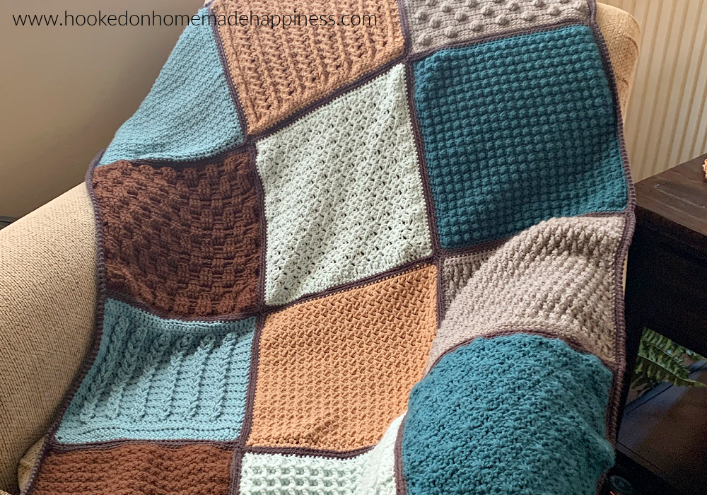 Stitch Sampler Scrapghan Crochet Along 2021 - Hi there! Thank you for your interest in joining my Stitch Sampler Scrapghan Crochet Along 2021! We're going to spend the next 13 week making this pretty blanket, one square at a time!