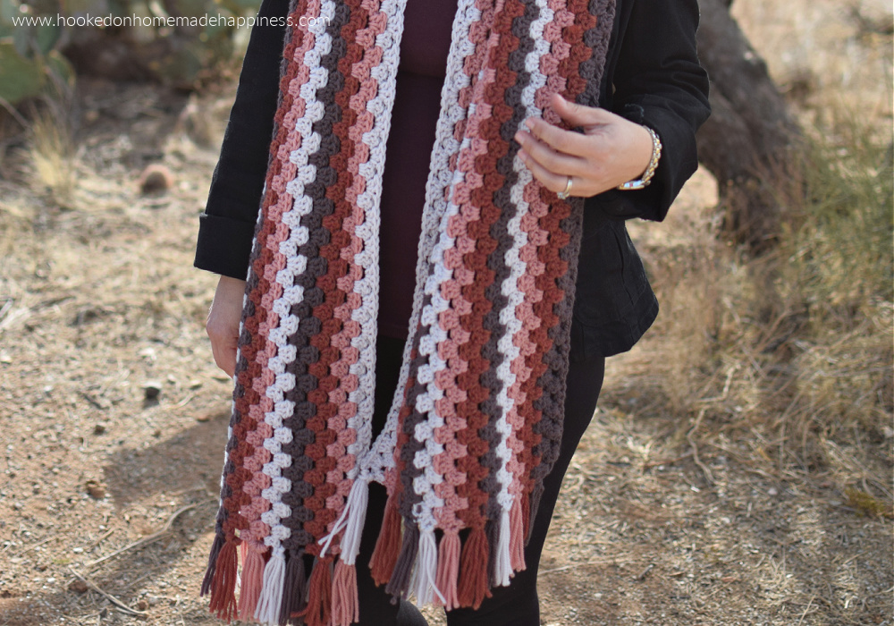 Granny Stripe Scarf Crochet Pattern - The Granny Stripe Scarf Crochet Pattern is super easy and it comes out in a super size - which I love!